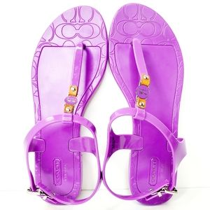 Coach Piccadilly Jelly Thong Sandals